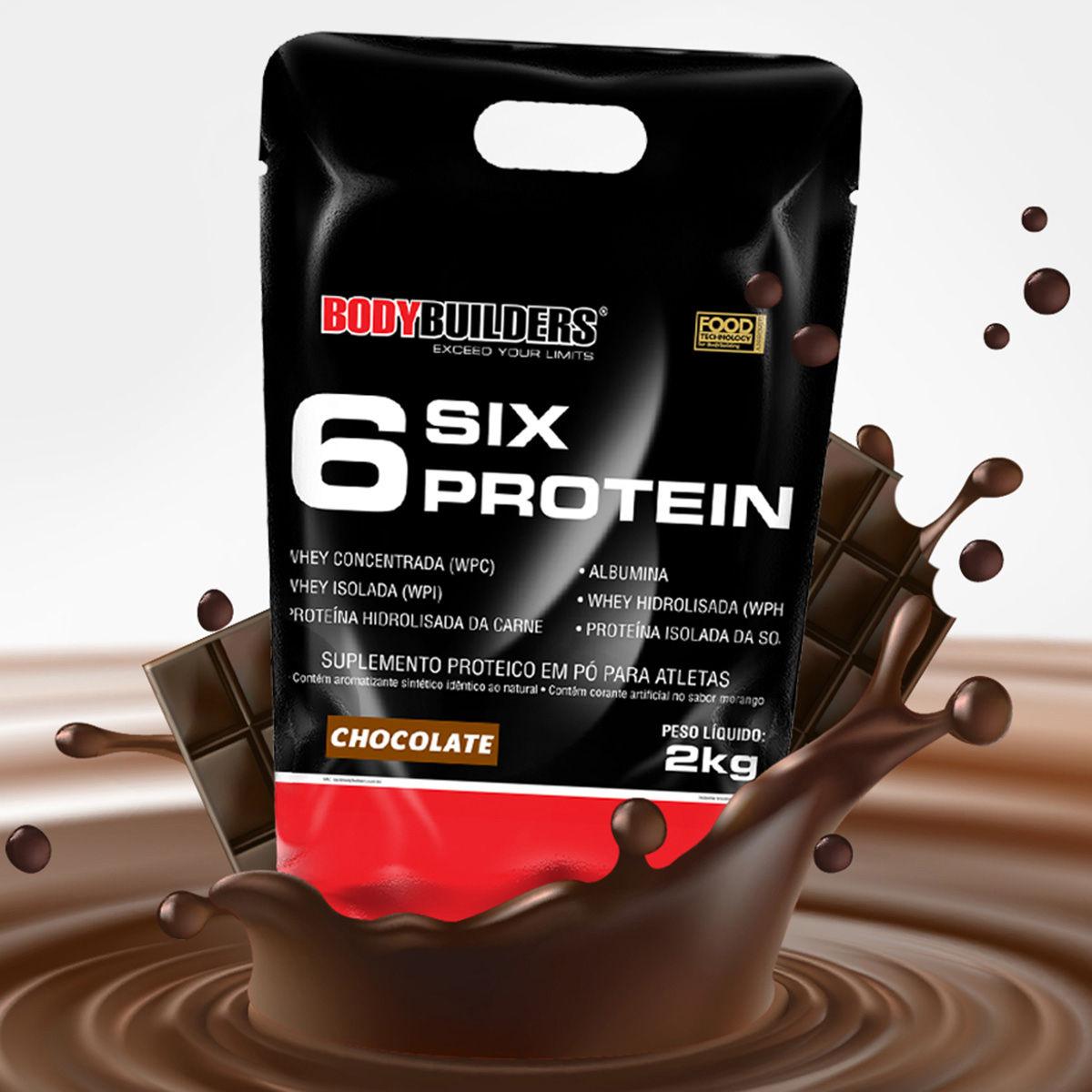 whey protein - 6 Six Protein Bodybuilders 2 Kg - R$ 59,90