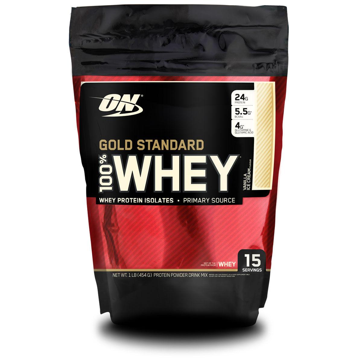 whey - 100% Whey Gold Standard 1 lb - R$ 84,90