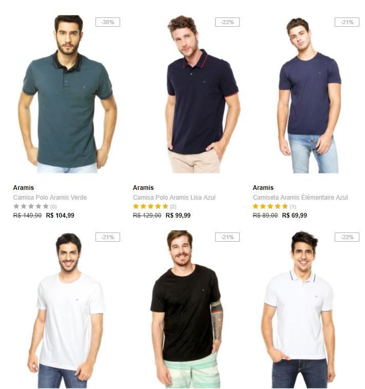 camiseta 1 - Dafiti - Tommy e Aramis a partir de 20%OFF