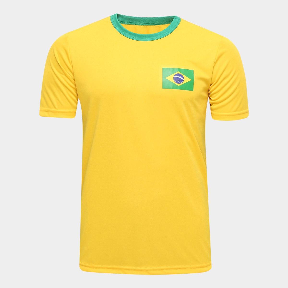camiseta brasil - Netshoes - Camisa Brasil Torcedor - R$ 49,90