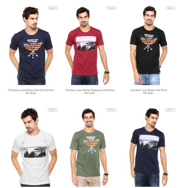 camisetas 1 - Kanui - Especial Camisetas - 6 por R$149