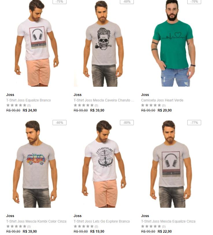 camisetas - Dafiti - 5 Camisetas por R  109 CAMPM5C109 11580d9ca0c95