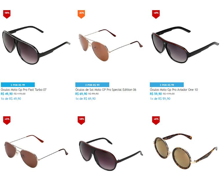oculos - Netshoes - Escolha 2 Óculos por R$99