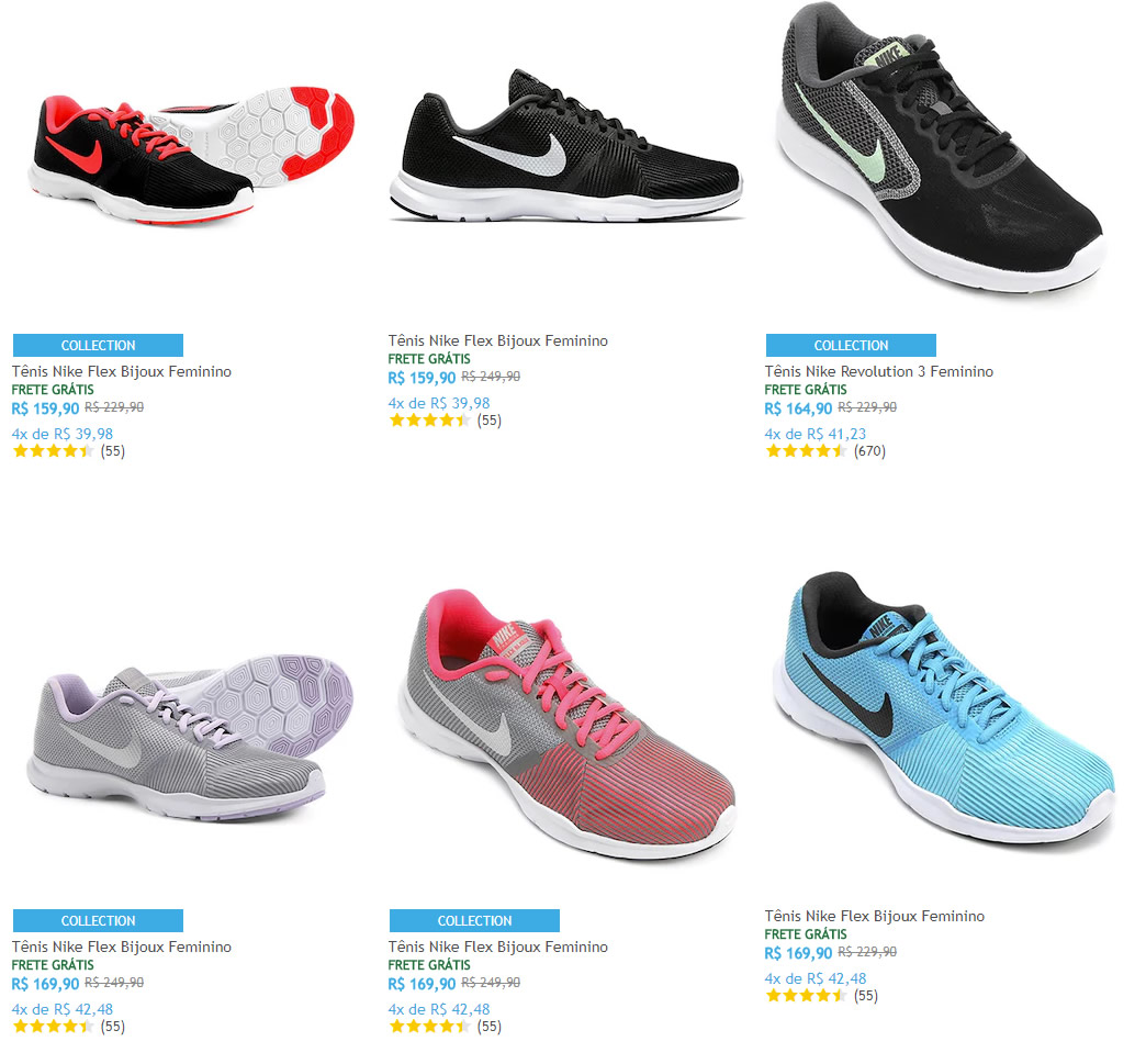 225856814f Saldão de Tênis Nike Feminino na Netshoes - Pirata dos Descontos