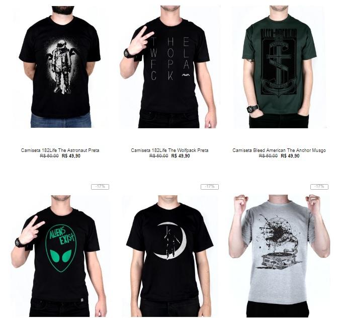 d15950b3da Kanui - 5 Camisetas por R$99 - Pirata dos Descontos
