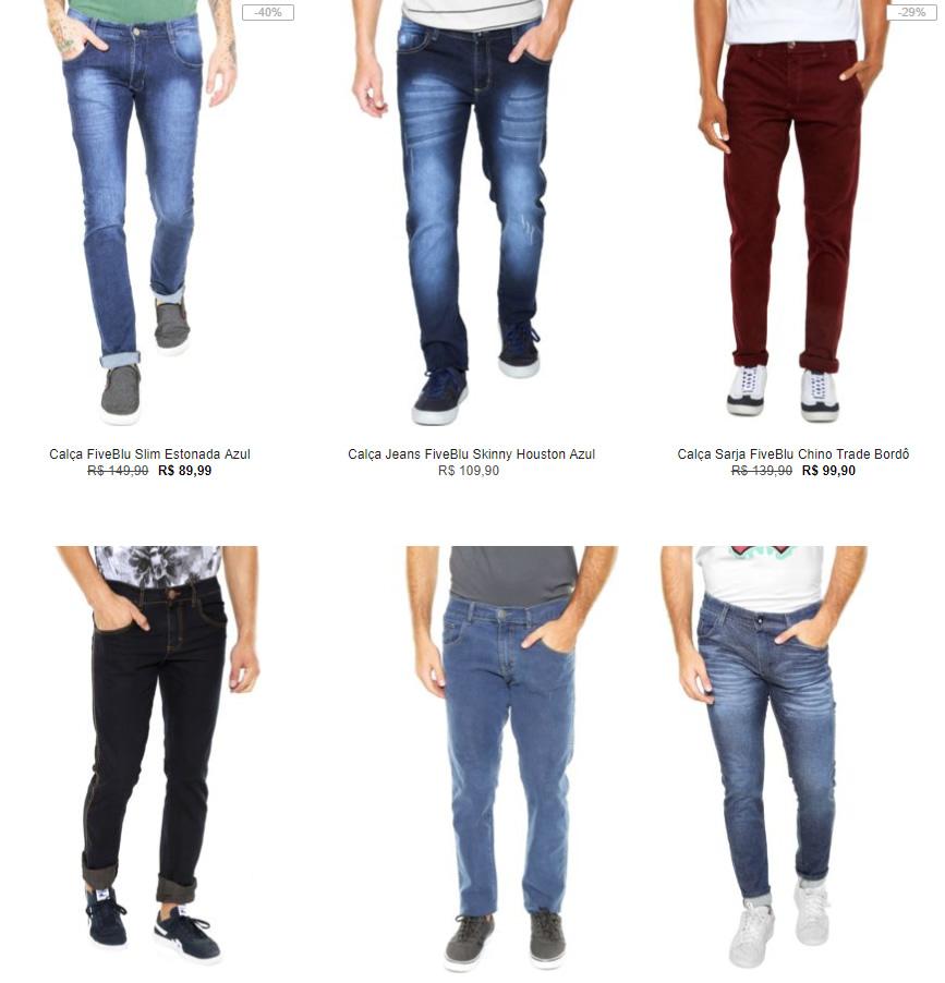 calca masculina - Kanui - Especial Calças - 3 por R$ 199