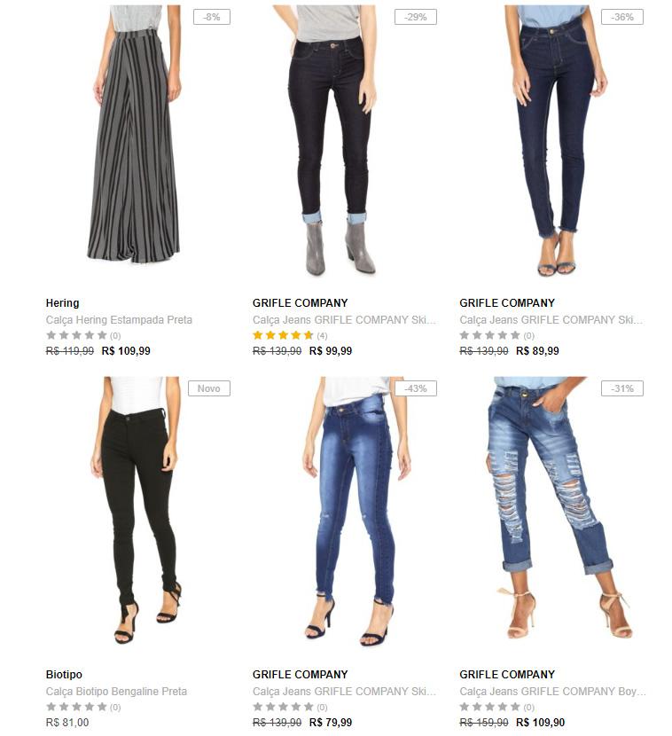 calcas femininas - 3 Calças Femininas na Kanui por R$199