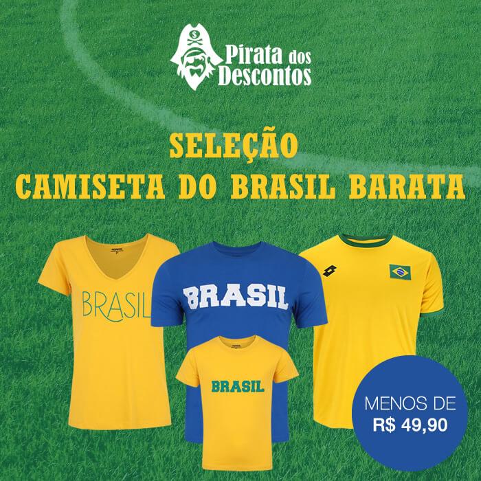 camiseta do brasil barata - Seleção - Camiseta do Brasil Barata