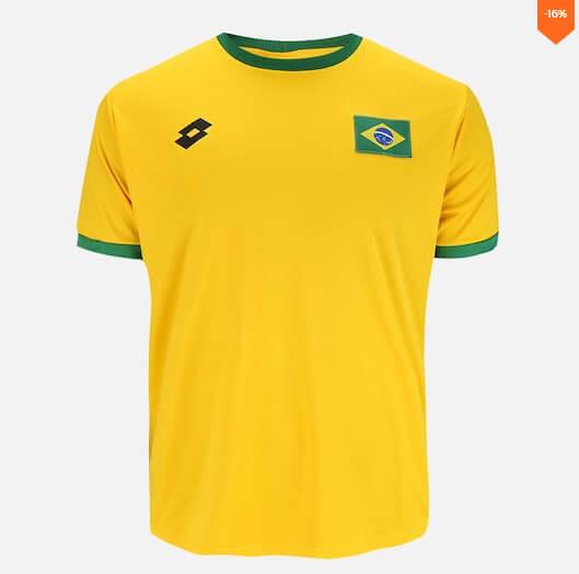 camiseta2 - Seleção - Camiseta do Brasil Barata