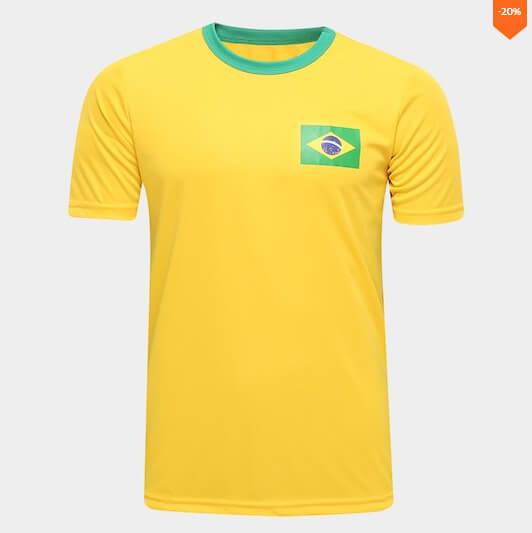 camiseta7 - Netshoes - Camisa Brasil Torcedor - R$19,90
