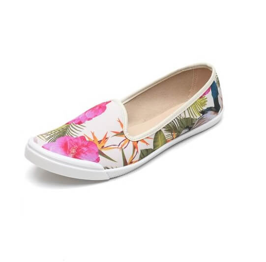 slipper moleca - Slipper Moleca Floral Branco - R$24,99