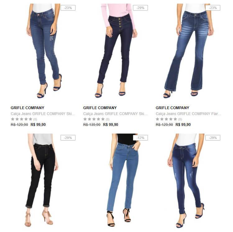 3 calcas - Calça Jeans Feminina na Dafiti 3 por R$199