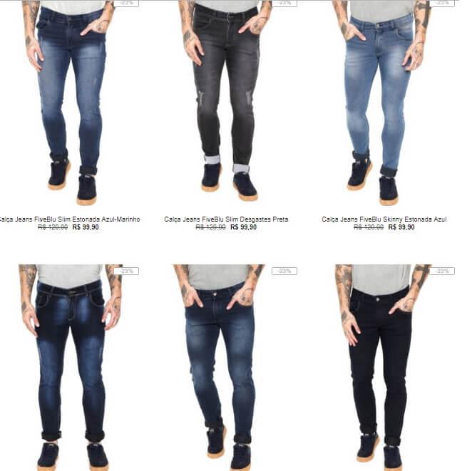 calca jeans fiveblu - Escolha 3 Calças Jeans na Kanui por R$199