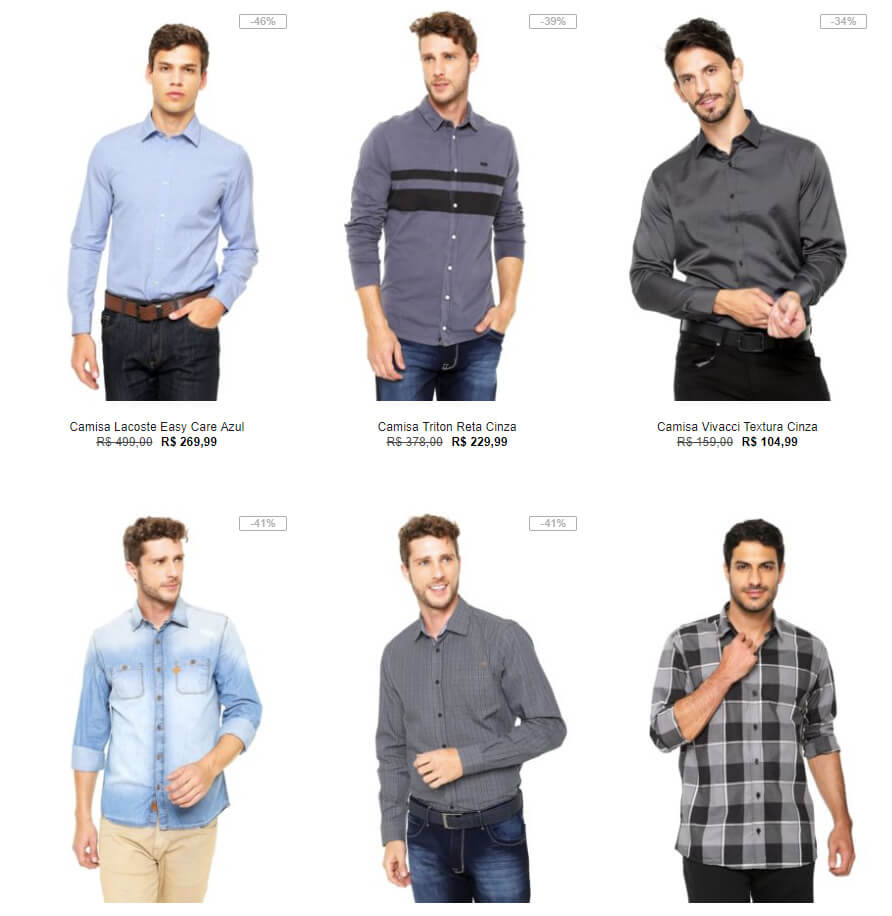 camisas - Especial Camisas na Kanui - 30% OFF