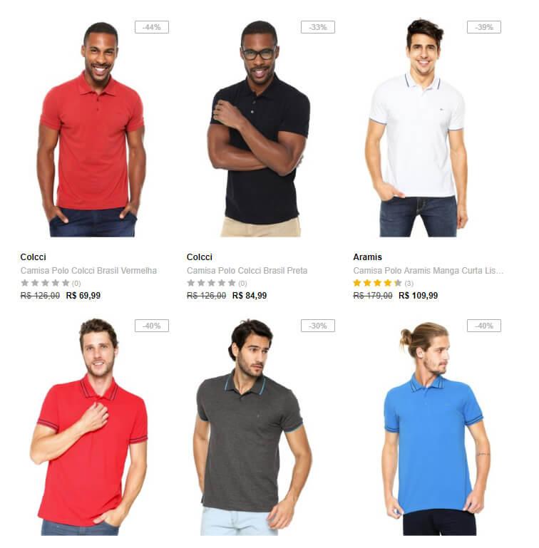 camiseta polo - Dafiti - Polos Masculinas até 50% OFF