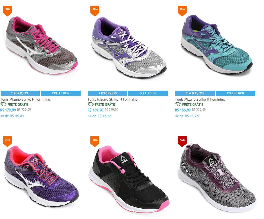 tenis corrida netshoes - Netshoes - 2 Tênis Femininos de Corrida por R$299