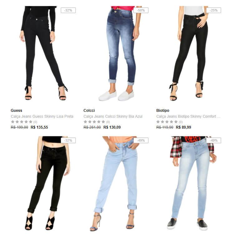 jeans - Outlet Dafiti - Jeans Feminino - Até 60% OFF