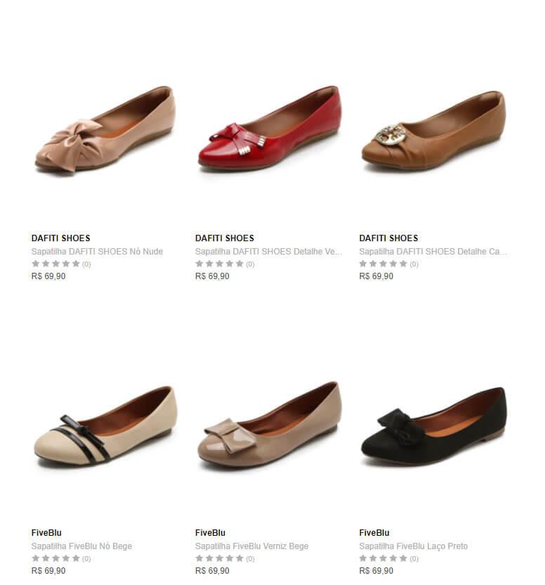 sapatilhas - Escolha 3 Sapatilhas na Dafiti por R$99