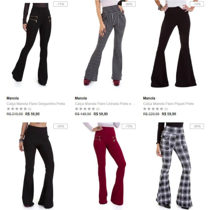 calças - Dafiti - Escolha 2 Calças Femininas por R$99