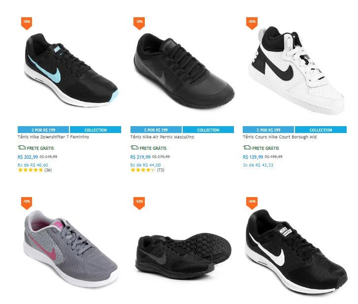 Netshoes - 2 Tênis Nike por R 299 - Pirata dos Descontos c1b40d509727e