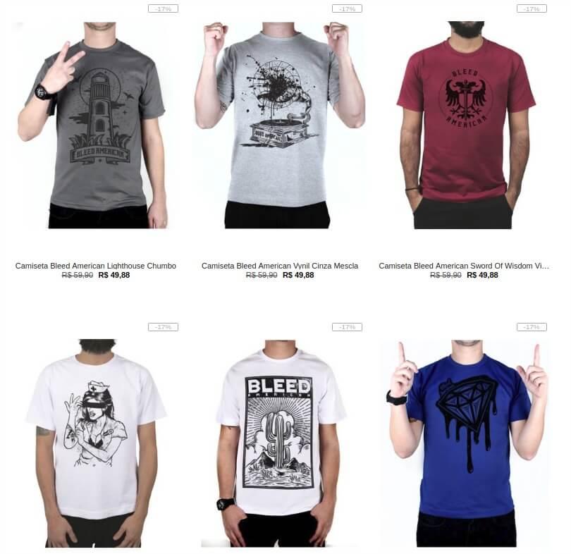 8f452acf0a Kanui - Escolha 5 Camisetas por R 99 - Pirata dos Descontos