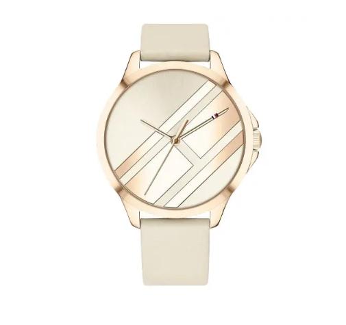 relogio tommy feminino - Relógio Tommy Hilfiger Feminino Couro Bege - R$ 390,00
