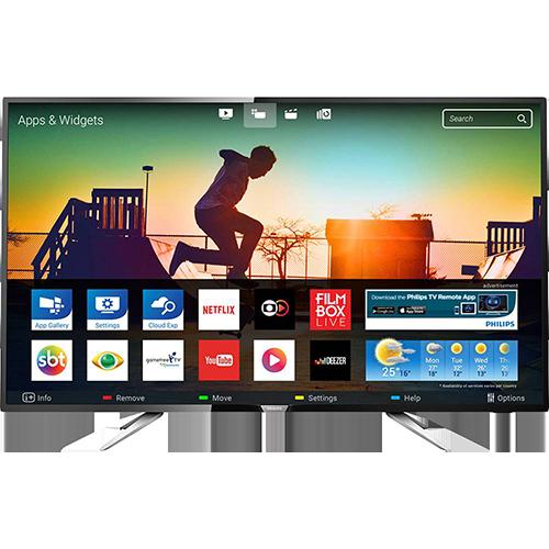"smart tv - Smart TV LED 43"" Ultra HD 4k - R$ 1.614,99"