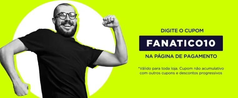 FANATICO10 - Cupom de 10% na Futfanatics - FANATICO10