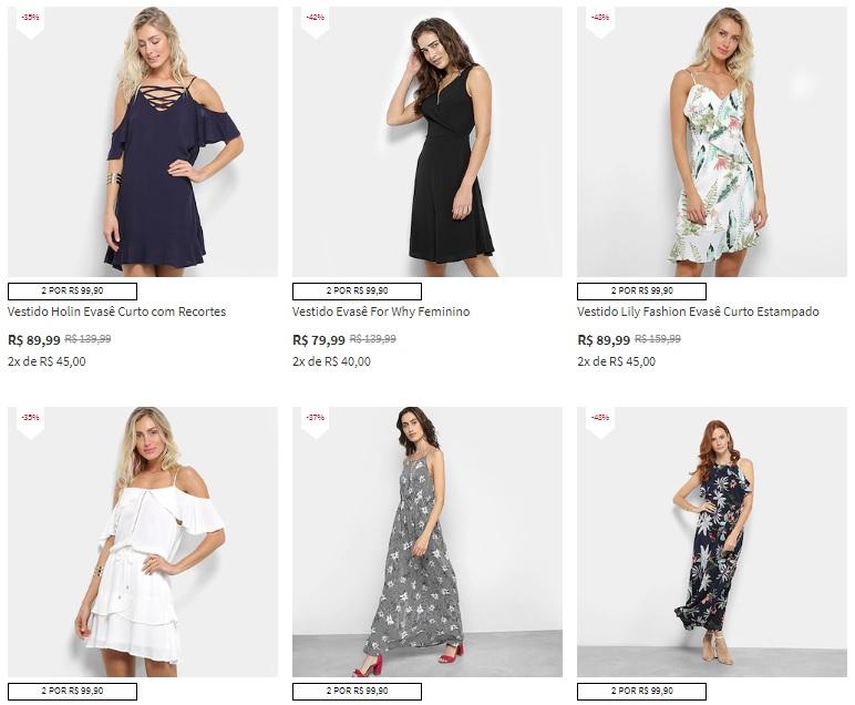 vestido - Vestidos na Zattini - 2 por R$99,90