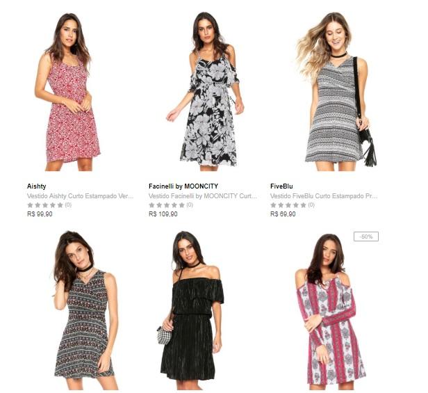 vestidos - Compre 1 Vestido Leve 4 na Dafiti