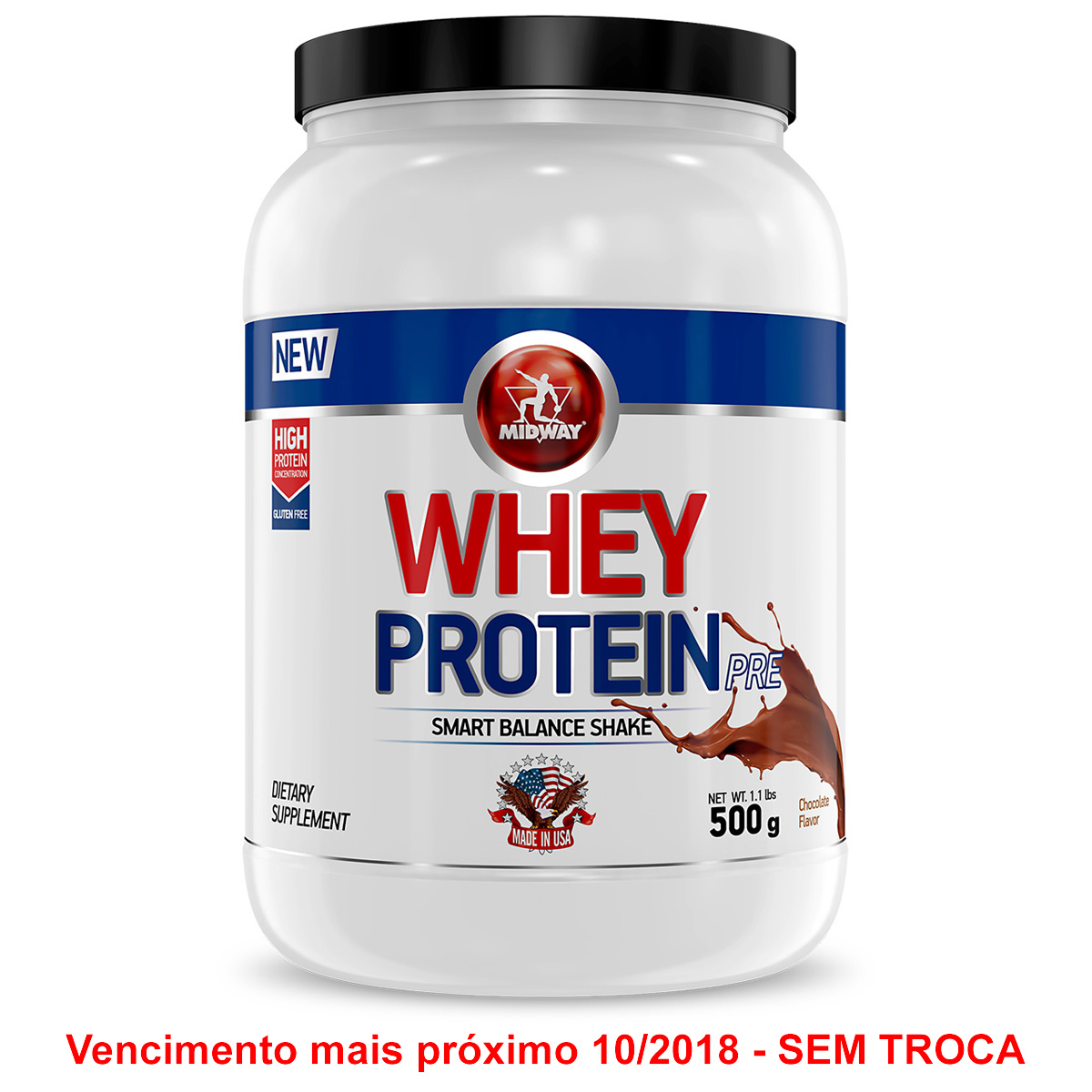 whey protein - Whey Protein Pré Midway 500g - R$ 16,99