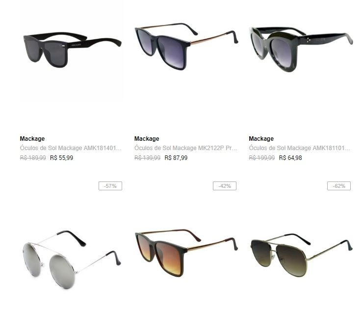 2OCMACK89 - Dafiti - Escolha 2 Óculos de Sol por R$89