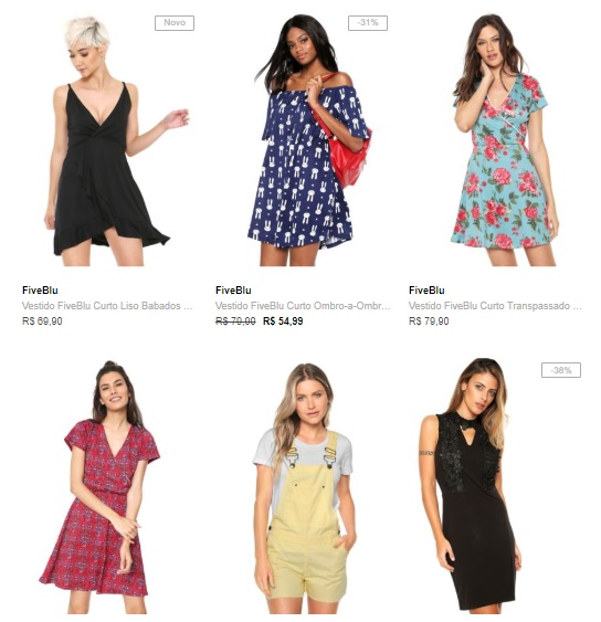 3 vestidos 89 - Escolha 3 Vestidos na Dafiti por R$89