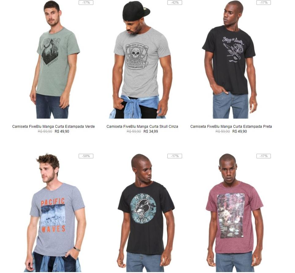 3efaefb9cc Kanui - 3 Camisetas por R 59 - Pirata dos Descontos