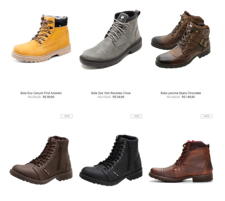 botas masculinas - Botas Masculinas na Kanui até 40% OFF