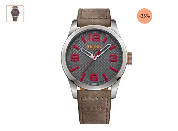 relogio hugo boss - Relógio Hugo Boss Couro - R$ 357,50