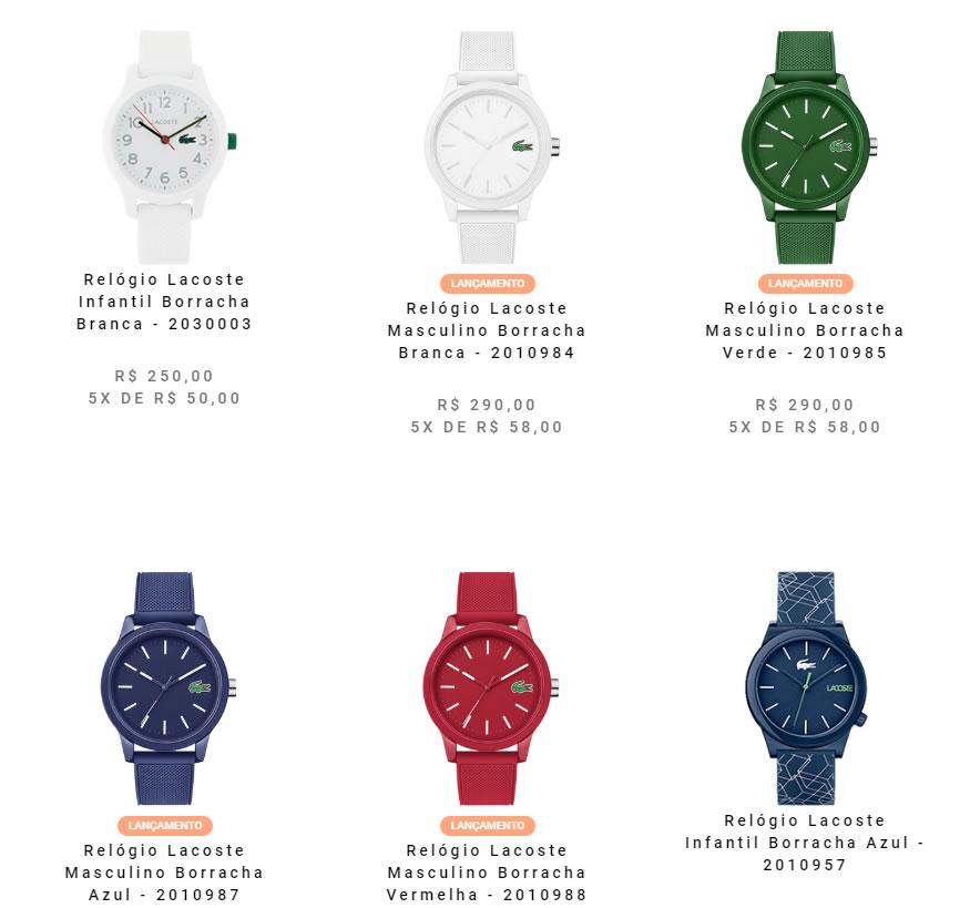 relogio lacoste - Vivara - Relógios Lacoste a partir de R$190