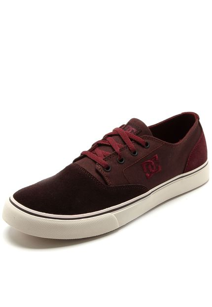 tenis dc - Tênis DC Shoes Flash 2 Sd Vinho - R$94,99