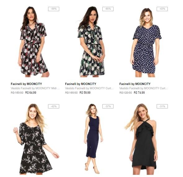 vestidos - 3 Vestidos por R$139 na Dafiti - 3VEST139