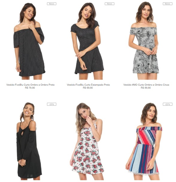 3 vestidos - Leve 3 Vestidos na Kanui por R$99