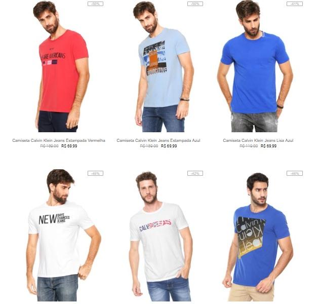6763694bc0 Camiseta Calvin Klein na Kanui a partir de R 64