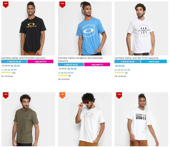 camiseta oakley - Netshoes - 2 Camisetas Oakley por R 99 462319ba649