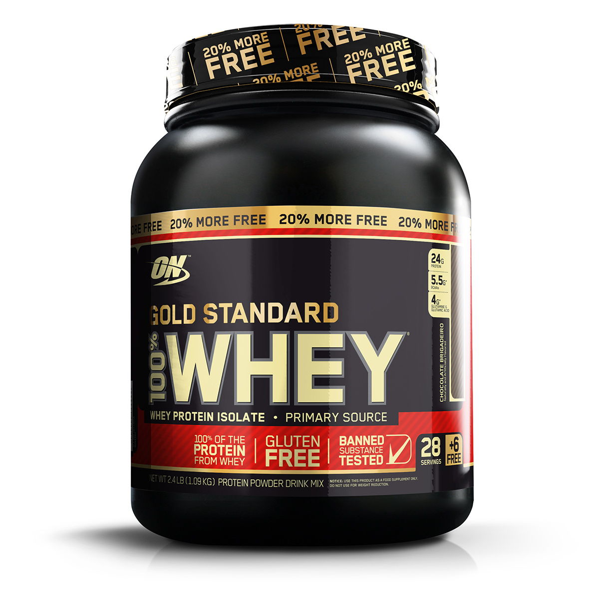 gold standard - Whey Gold Standard ON + 20% Grátis - R$ 189,99