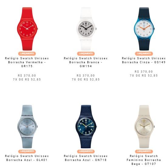 relogio swatch unissex - Relógio Swatch na Vivara a partir de R$370
