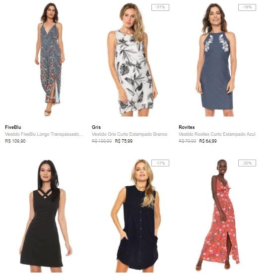 vestidos 1 - Verão Dafiti - Leve 3 Vestidos por R$149