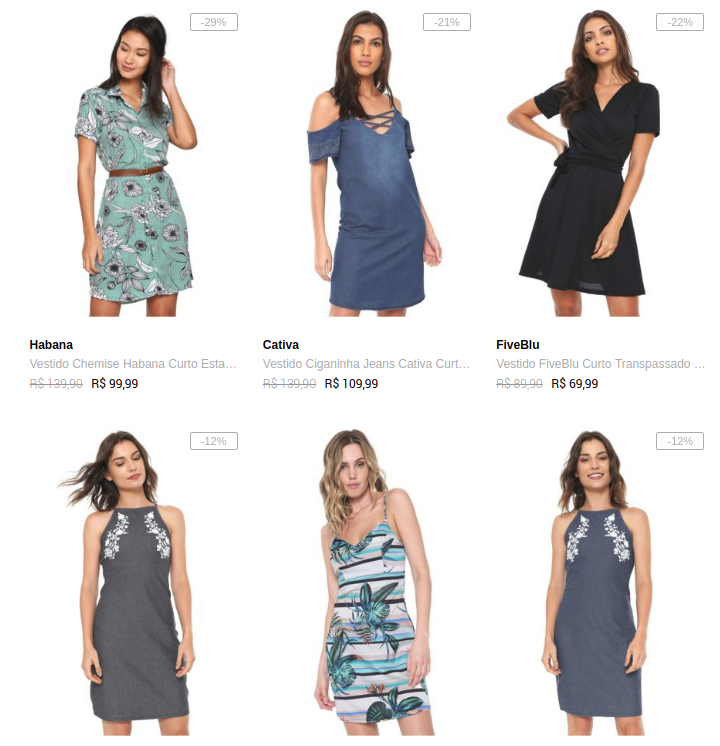 campanha fem sn promovoucher 3 vestidos 149 - Escolha Vestidos 3 Por R$ 149* na Dafiti