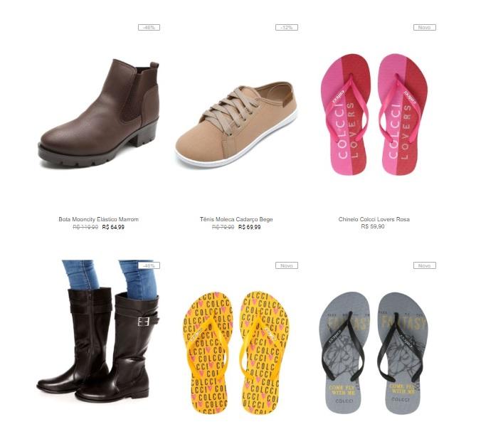 3CALC149 - Escolha 3 Calçados Femininos por R$149 na Kanui