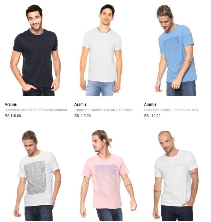 2CA139M - Camiseta Aramis na Dafiti - 2 Por R$139