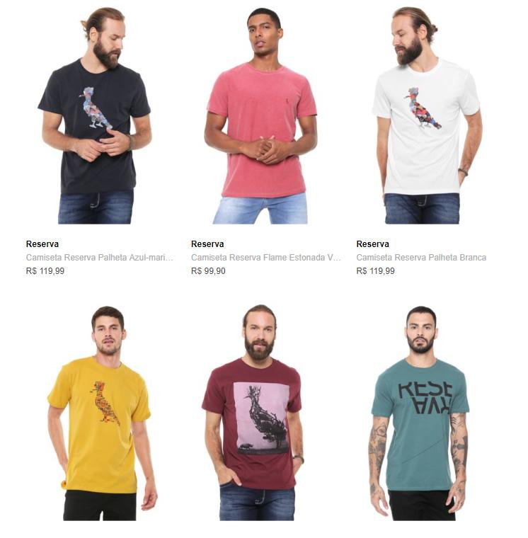 camiseta reserva - Camiseta Reserva na Dafiti - 2 por R$139
