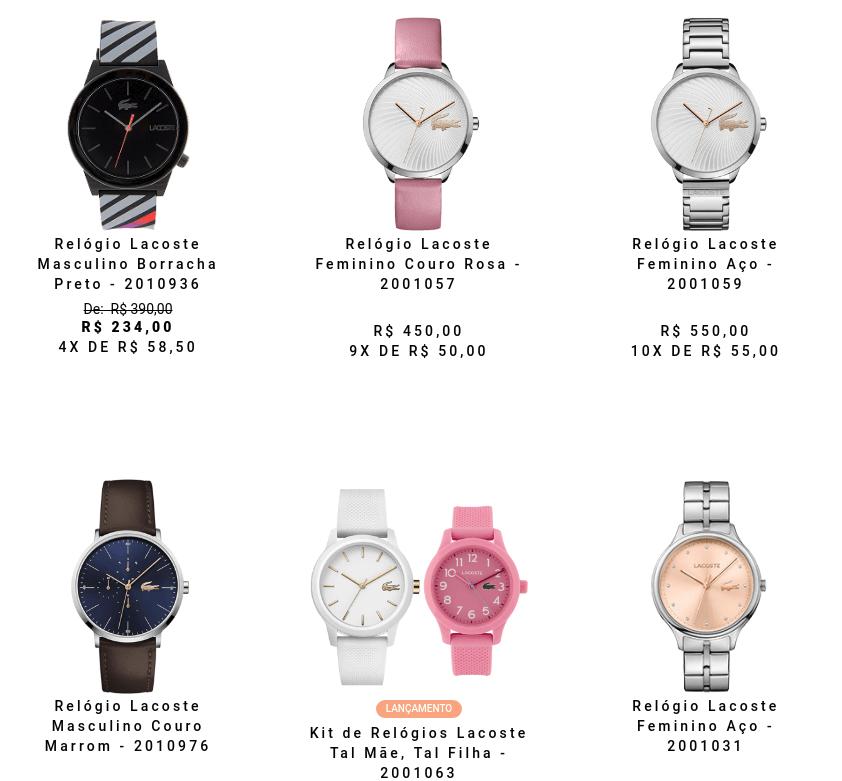 relogio lacoste - Vivara - Relógios Lacoste a partir de R$234